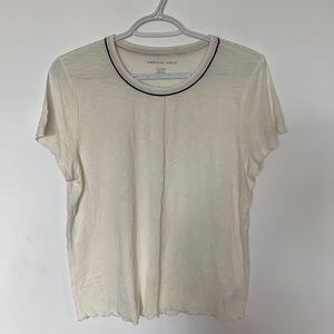 American Eagle Soft T-shirt with Black Detailing